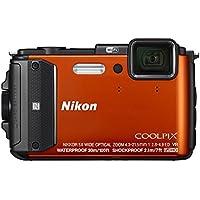 Nikon - Coolpix AW130 16.0-Megapixel Waterproof Digital Camera - Orange