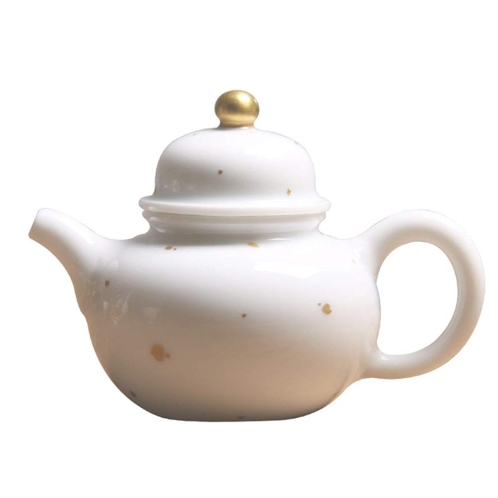 Coffee Pot Tea Pot Coffee Kettle Espresso Coffee Maker Coffee Machine French Coffee Press Insulation Pot Manual Ceramics Sprinkling Gold Decoration GAOFENG (Color : White)