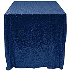 50''x50'' Square Navy Blue Sequin Tablecloth Select Your Color & Size Can Be Available ! Sequin Overlays, Runners, Gatsby Wedding, Glam Wedding Decor, Vintage Weddings