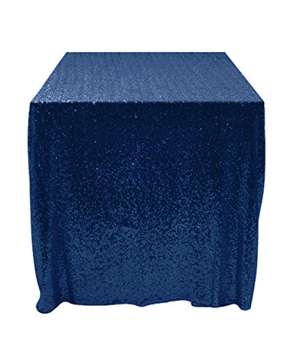 50''x50'' Square Navy Blue Sequin Tablecloth Select Your Color & Size Can Be Available ! Sequin Overlays, Runners, Gatsby Wedding, Glam Wedding Decor, Vintage Weddings for $<!--$12.97-->