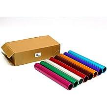 Cintz Anodized Aluminium Relay Batons, set of 8, Assorted colors