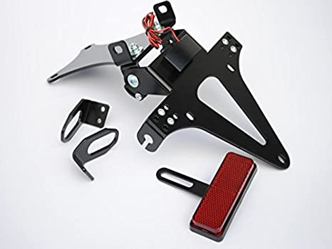 TOOGOO Motorcycle Support De Cadre De Plaque DImmatriculation /à Angle R/églable pour Support pour YZF R1 R3 R15 R25 Fz6 Mt-07 MT 07