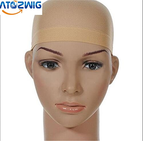 [ATOZWIG Unisex Stocking Wig Nylon Stretch Mesh Skin Color] (Cheap Color Wigs)