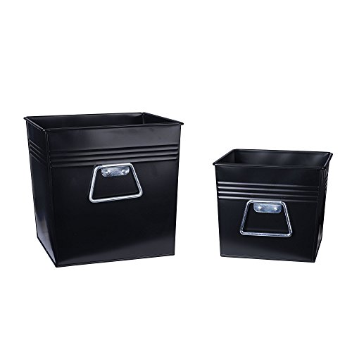 [해외]가구 필수 요소 장식 금속 빈 2 Pc. /Household Essentials Decorative Metal Bin 2 Pc. Set