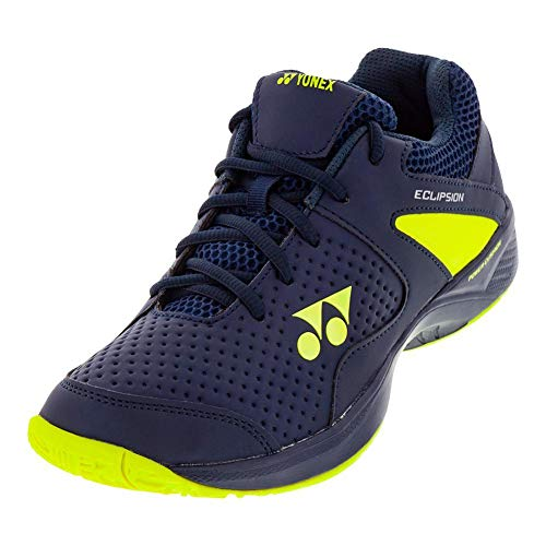 YONEX Juniors` Power Cushion Eclipsion 2 Tennis Shoes Navy and Yellow (3)