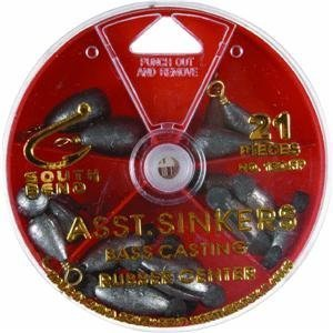 South Bend Bass Sinker - South Bend All-In-One Rubber Center/Bass Casting Assortment