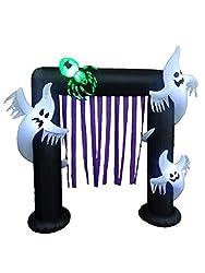 BZB Goods 8 Foot Illuminated Halloween Inflatable Ghosts...