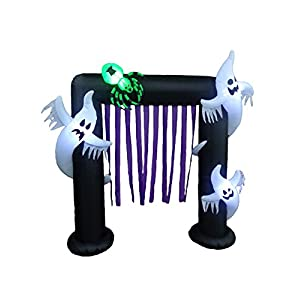 BZB Goods 8 Foot Halloween Inflatable Ghosts Spider Archway Arch LED Lights Decor Outdoor Indoor Holiday Decorations…