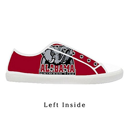 96717efd4f4 Custom Women Alabama Crimson Tide Canvas Shoes Comfortable Sneakers on sale