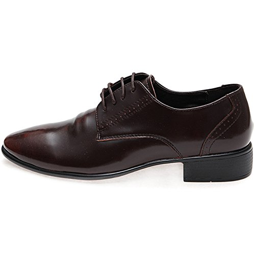 New Mooda Classic Modern Plain Toe Leather Casual Oxford Formal Men Dress Shoes Brown aQ6wuru