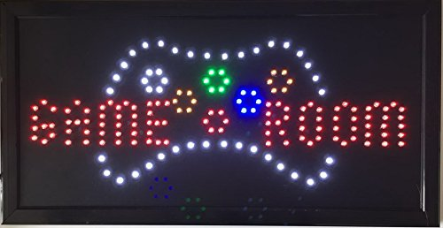 CHENXI Game Room Entertainment Led Business Store Neon Sign Display 19 X 10 Inch No Animation(48 X 25 CM)