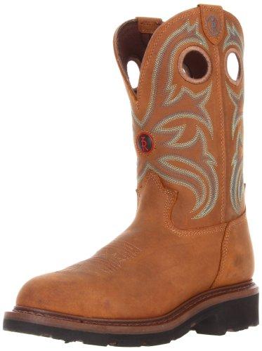Tony Lama Men's RR3206 Work Boot,Tan Cheyenne Buffalo,12 D US (Tony Lama Work Boots Steel Toe compare prices)