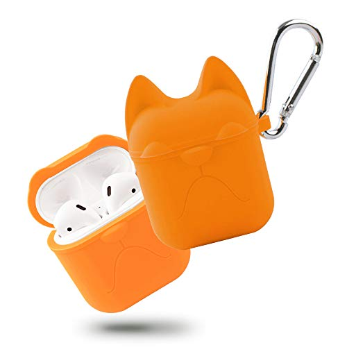 Anti-Lost Design Solid Color Silicone Scratch Protection Cover Key Chain Pouch Skin for Redmi Airdots Charging Case JKRED for Xiaomi Redmi Airdots Protective Case