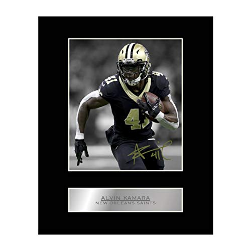Alvin Kamara Signed Mounted Photo Display New Orleans Saints NFL #1 Autographed Gift Picture Print