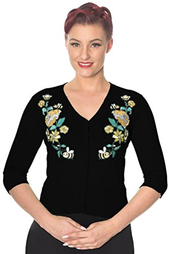 Banned-Flickers-Vintage-Retro-Cardigan-Yellow-Mint-or-Black