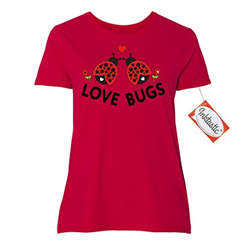 Inktastic Love Bugs Red Ladybugs Valentine's Day Women's Plus Size T-Shirt 3 (22/24) Red (Fashion Bug Plus Size)
