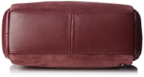LE TANNEUR - Anae Velours, Bolsa de hombro Mujer, Violet (Rose Grenade), 11x20x27,5 cm (W x H L)