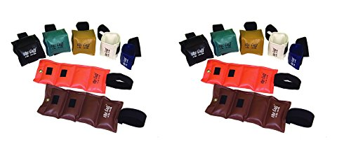The Cuff Original Ankle and Wrist Weight - 14 Piece Set - 2 of each: 1, 2, 3, 4, 5, 7.5, 10 lb by The Cuff