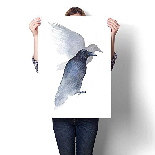 Anshesix Canvas Painting Sticker Watercolor Dark Ravens Print On Canvas for Wall Decor 16