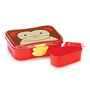 Skip Hop Baby Zoo Little Kid and Toddler Mealtime Lunch Kit Feeding Set, Multi, Marshall Monkey