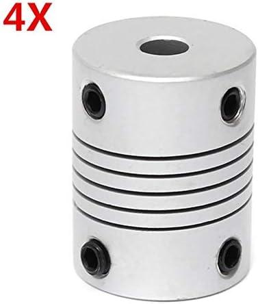 Wellen-Unterstützung Aluminium Flexible Wellenkupplung OD19mm X L25mm CNC Schrittmotor-Koppler-Verbindungs 4Pcs 5mm x 8mm