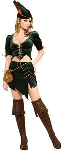 [Princess of Thieves Costume - X-Small - Dress Size 2-6] (Renaissance Archer Costumes)