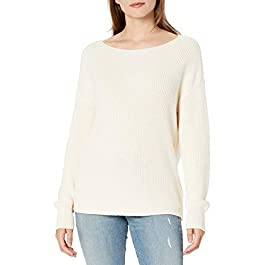 Amazon Brand – Goodthreads Women's Mineral Wash Ribbed Boatneck Pullover Sweater