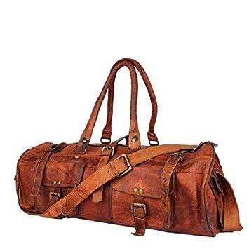 Anshika International Original Leather Travel Duffle Bag for Men and Women   9526f3cfa540f