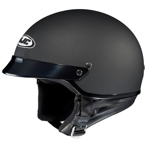HJC Solid CS-2N Half (1/2) Shell Motorcycle Helmet - Flat Black / 2X-Large (Motorcycle Helmet Flat Black)