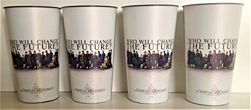 Fantastic Beasts 2 Movie Theater Exclusive Four 44 oz Plastic Cups