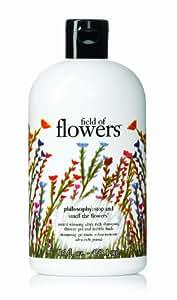 Philosophy Field of Flowers Shampoo/Shower Gel/Bubble Bath, 16 Ounces