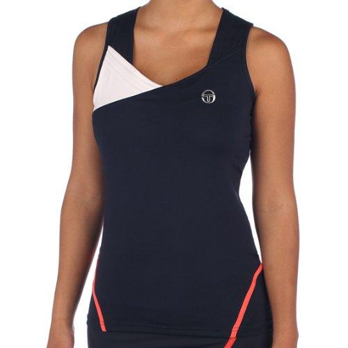 Sergio Tacchini Nenci Women's Tank Navy/White (Small) (Clothing Tacchini Sergio Tennis)