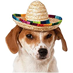 Rubie's Costume 888594-M-L Co Pet Sombrero Hat With Multicolor Trim, Medium/Large