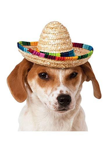 Rubie's Costume 888594-M-L Co Pet Sombrero Hat With Multicolor Trim, Medium/Large -