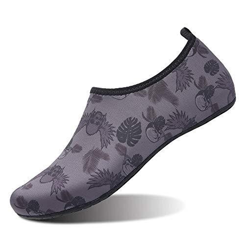 MoreDays Non-Slip Water Sport Shoes Light Barefoot Quick Dry Aqua Socks for Beach Pool Swimming Yoga Exercise ()
