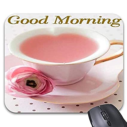 Amazoncom Good Morning Tea Mouse Pad Stylish Office Computer