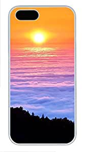 iPhone 5 5S Case landscapes nature sunset clouds view 8 PC Custom iPhone 5 5S Case Cover White by icecream design
