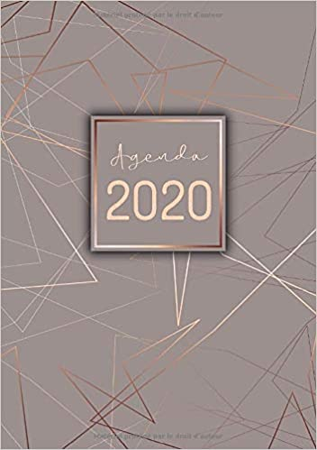 Calendrier Agenda 2020.Agenda Semainier Petit Format A5 Gris Ligne Rose Or
