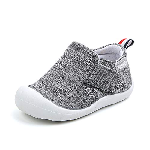 (OAISNIT Baby Boys Girls Sneakers Anti Slip Lightweight Soft Toddler First Walkers for Walking Running (5.5 M Toddler, A-Grey))