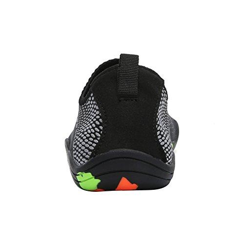 Leezo Unisex Adult Barefoot Quick Dry Water Sports Beach Shoes Aqua Socks White V9vmcM6