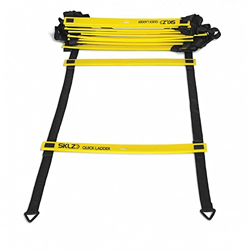 SKLZ Agility Ladder, 15ft Original Quick Ladder, Flat Rung Agility and Acceleration Training, Develop Explosive Power, Speed, and Better Footwork, Improve Coordination, Strength and Physical Dexterity