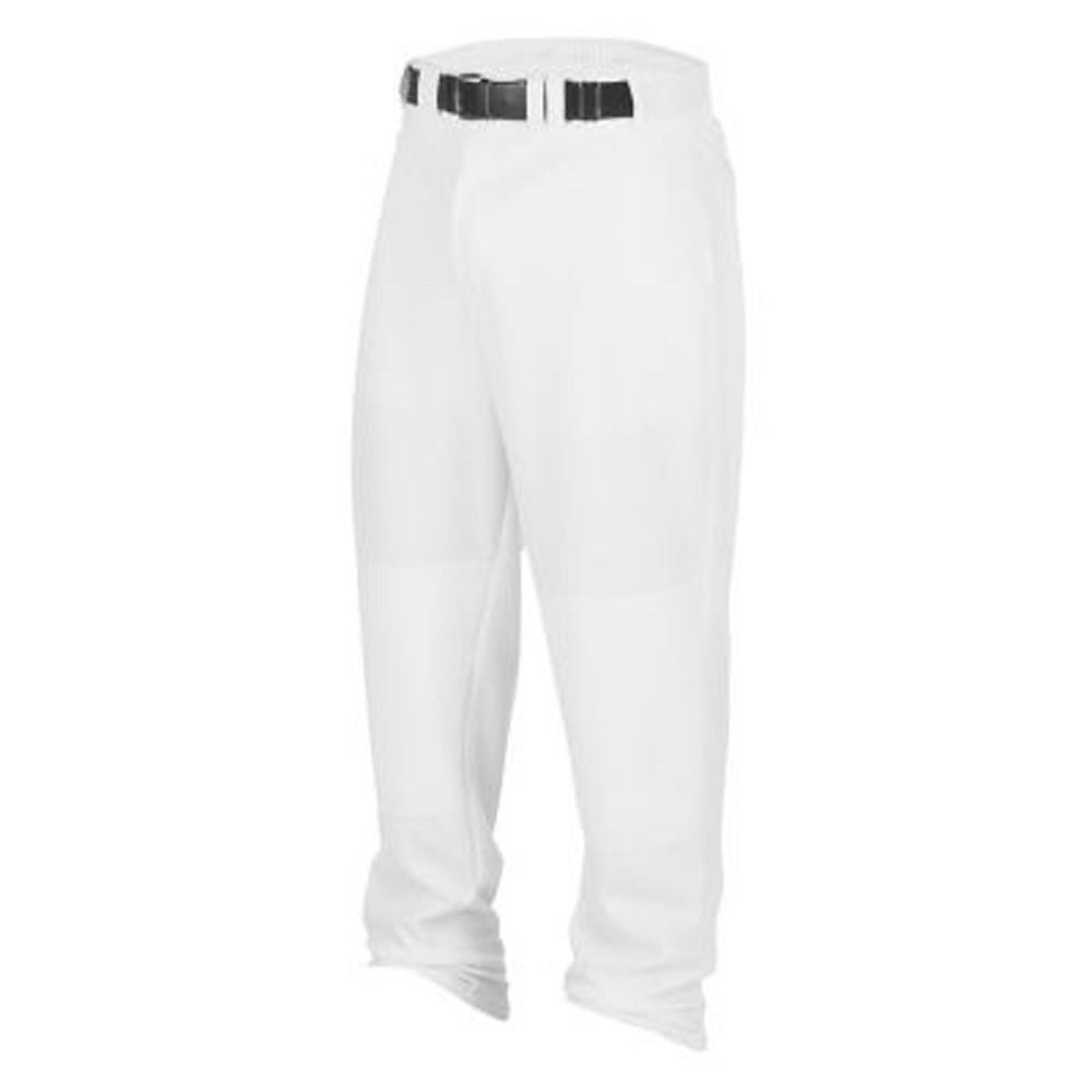 タグ大人用Relaxed Straight Leg Baseballパンツ( Open Bottom ) B00TBV60CG Medium|ホワイト ホワイト Medium