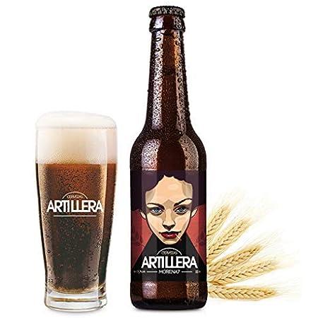 Cervezas Artillera - Pack de 4 cervezas artesanas de 33 cl - Morena 7: Amazon.es: Alimentación y bebidas