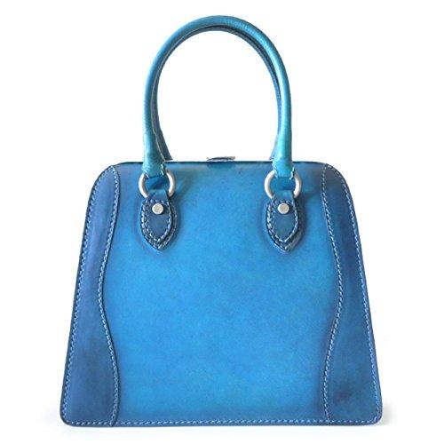 Blu azul Pratesi De Para Mujer 1251 Bolso Asas Bruce UvUx0Yq