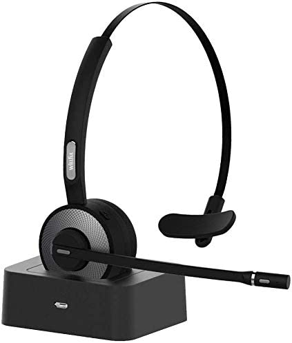 Willful Auriculares con Micrófonos,Auricular Bluetooth Cascos PC con Estación de Carga Cancelación de Ruido, Compatible con PC, iPad, Teléfono Fijo, Skype, Oficina, Manos Libres para Teléfono Fijo: Amazon.es: Electrónica