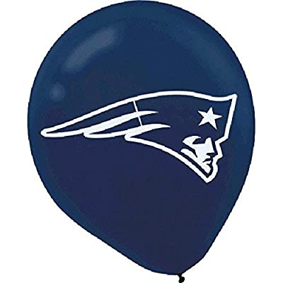 """New England Patriots Collection"" Printed Latex Balloons, Party Decoration: Toys & Games"