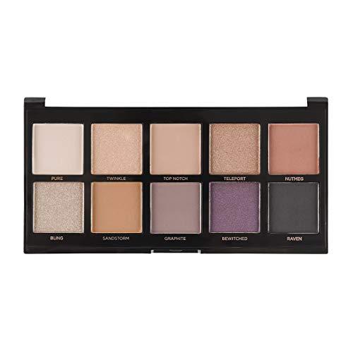Profusion Cosmetics Mini Artistry 10 Shade Eyeshadow Palette, Smoky