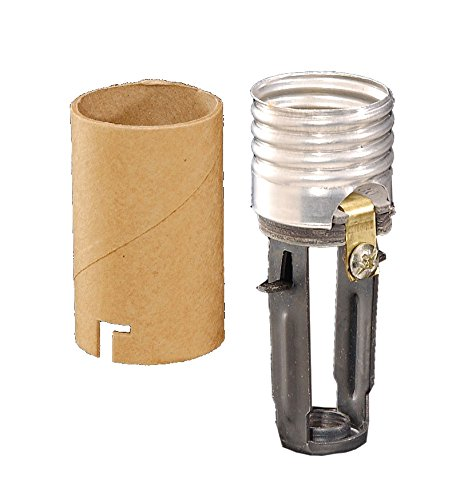 B&P Lamp Med. Base, Keyless Candle Socket with 1/8 F Hickey, 3 Overall Height