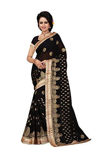 Da Wear Designer for 10 Indian Party Women Wedding Facioun Black Saree Traditional Sarees UrxZq8wUR