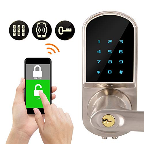 Compatible with Bluetooth Door Lock, Digital Keypad APP Control Smart  Electronic Locks, Home Security Entry Systems for Home Hotel Apartment